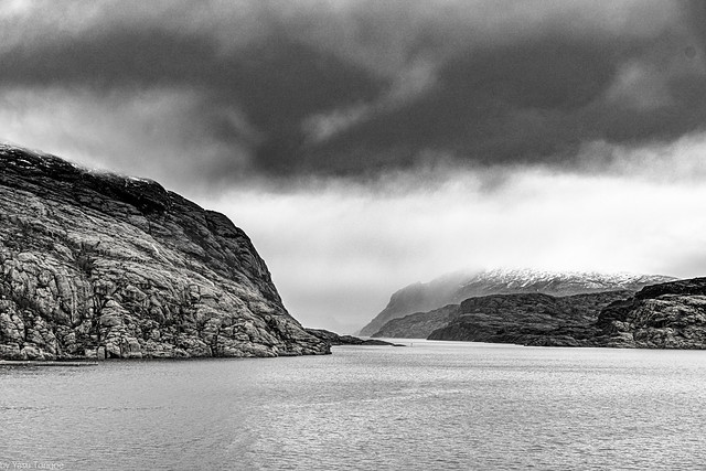 Early morning view of waterways of Norway, north of Bergen-27a