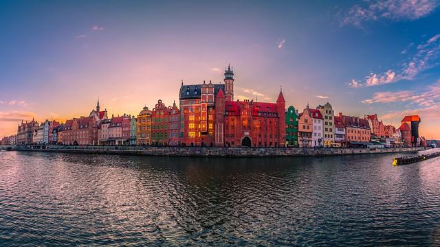 Gdansk at sunset