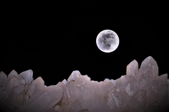 Moonlight on the Quartz mountains