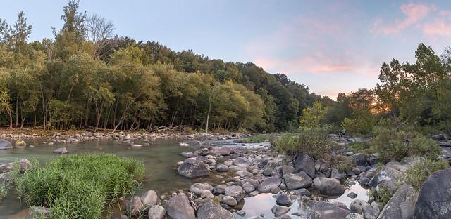 Sunset, Caney Fork River, Bridgestone Firestone Centennial Wilderness WMA, White County, Tennessee 1