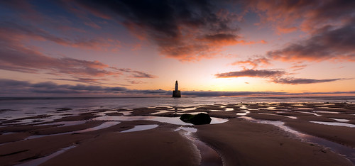 rattrayhead lighthouse aberdeenshire scotland sunrise landscape longexposure panorama pano red sky beach sand canon canon5d eos