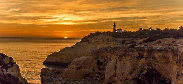 Lighthouse Sunset Seascape