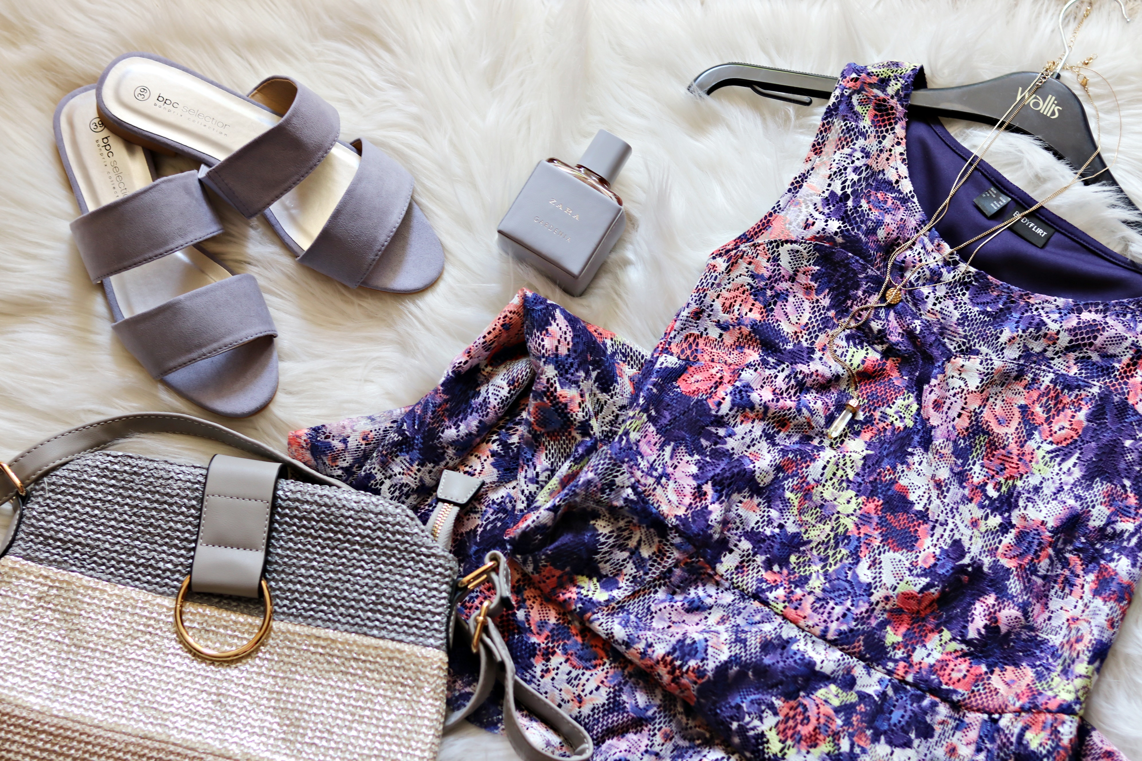 summer outfit flatlay