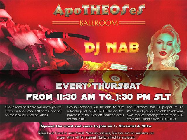 DJ Nab at Apotheosis every thursday