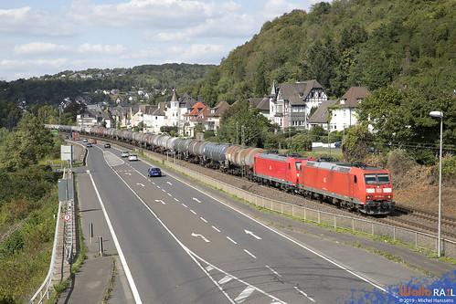 185 186 + 185 060 . DB Cargo . 47061 . Linz (Rhein) . 02.09.19.