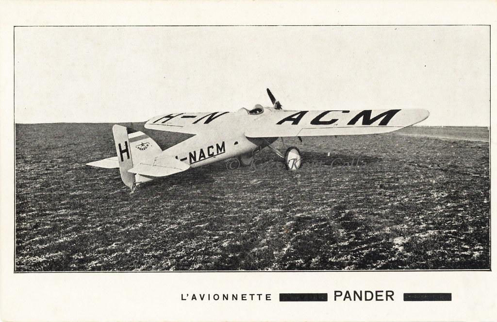 The Pander Type D Ultra Light Monoplane Avionnette Sho Flickr