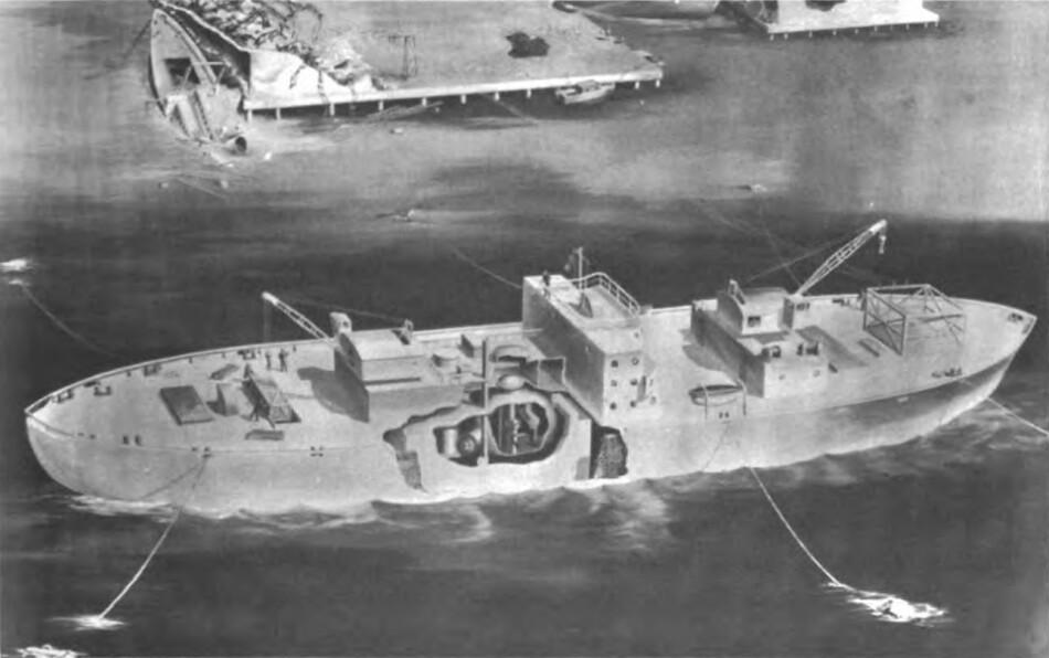 1 Эскиз плавучей АЭС «Стёрджис» 1963 года
