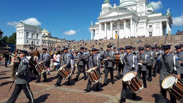 20190719 (15) Varusmiessoittokunta Vartioparaati Tattoo Conscript Band Changing the Guard Senaatintori Helsinki Suomi Finland EU