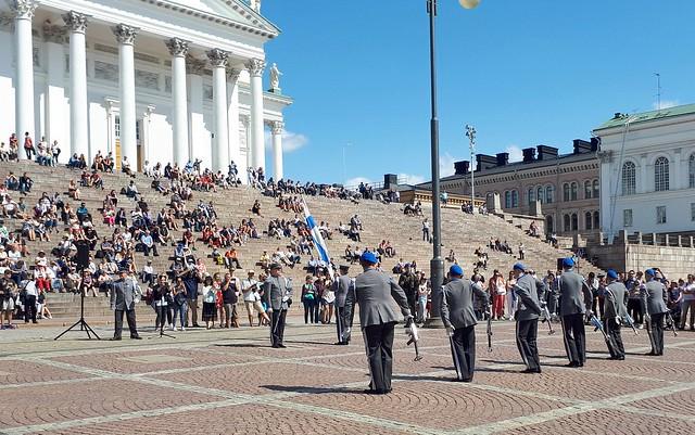20190719 (08) Varusmiessoittokunta Vartioparaati Tattoo Conscript Band Changing the Guard Senaatintori Helsinki Suomi Finland EU
