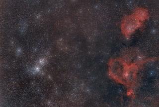 Heart & Soul nebulas & Perseus Double Cluster
