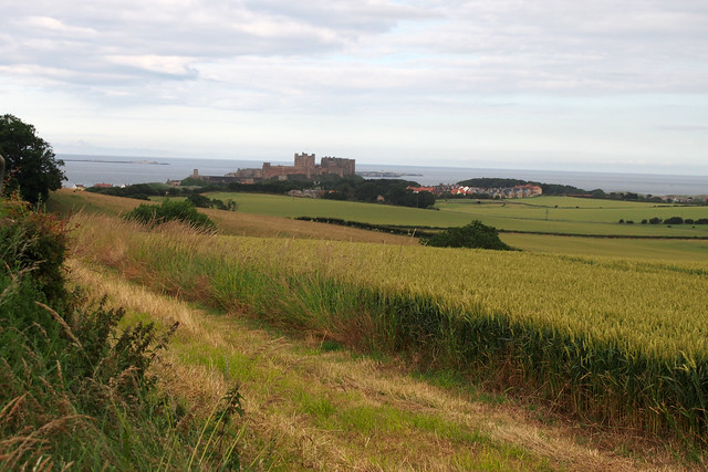 Looking down on Bamburgh