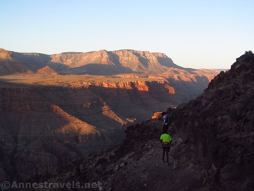 Early hour of sunrise on the Lava Falls Route in Grand Canyon National Park, Arizona