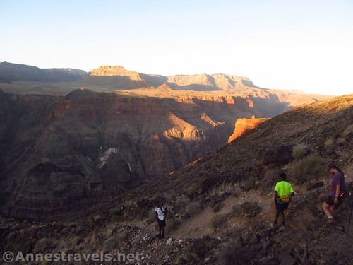 Sunrise start down the Lava Falls Route in Grand Canyon National Park, Arizona