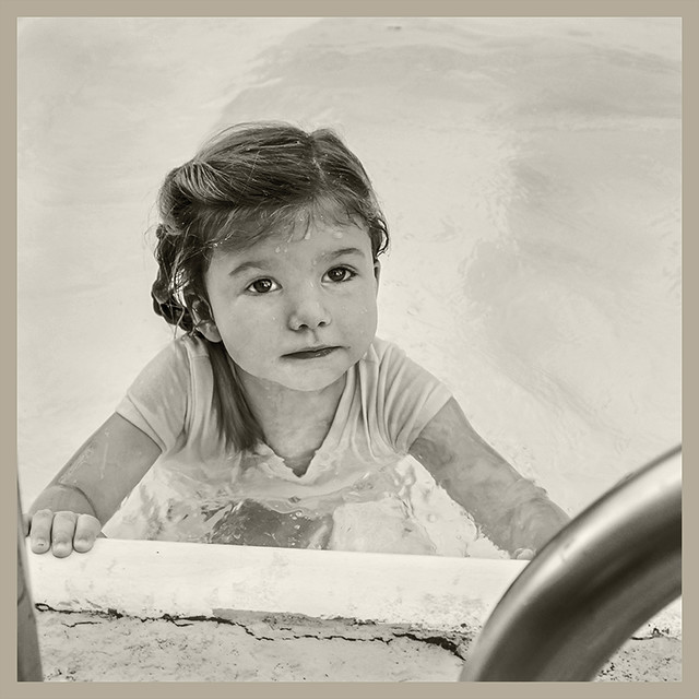 Grand Daughter #44 2019; In the Pool Looking Serious