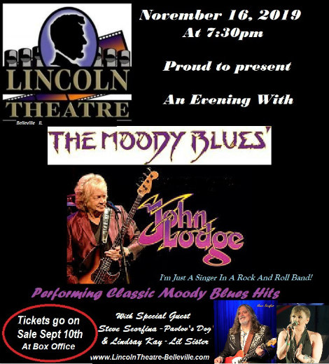 John Lodge Ticket Announcement Sept 10th