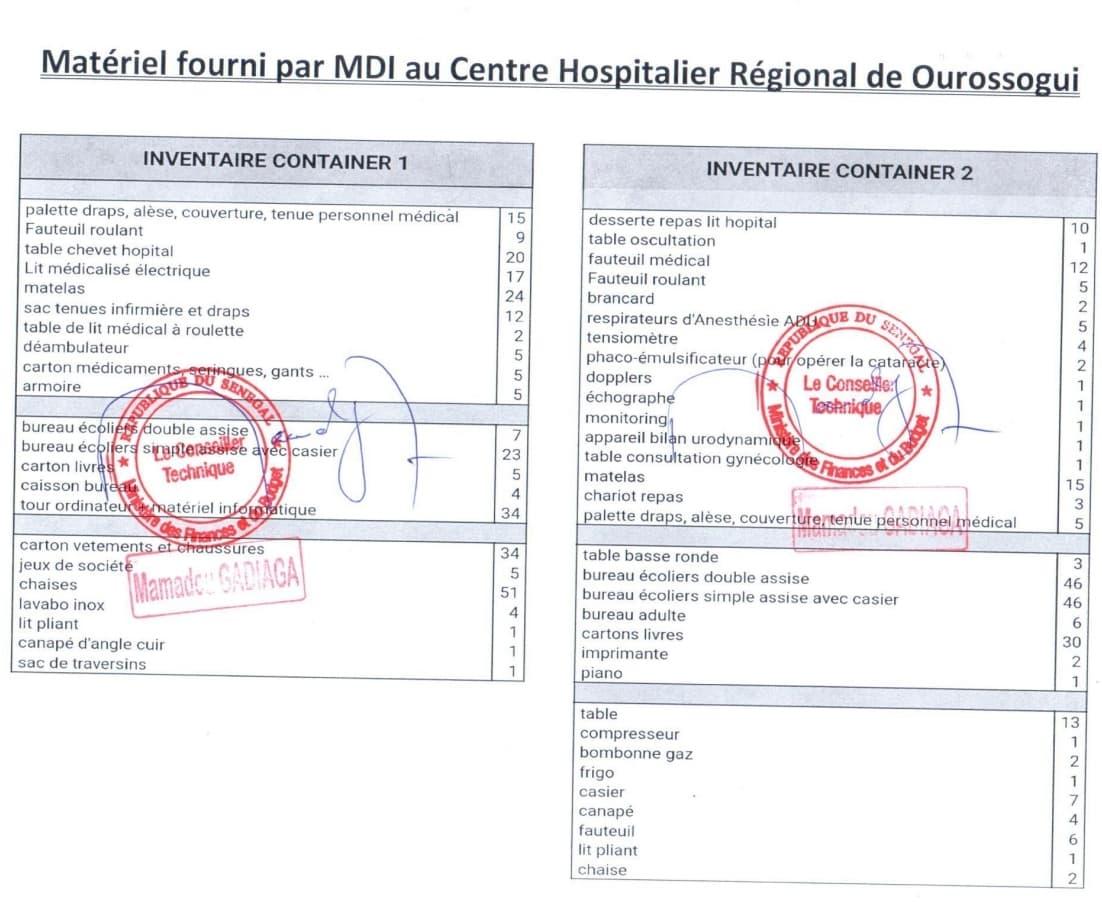 Groupe MDI Technologies mécène au Fouta, Don de Materiel Santé et Scolaire à Matam, Ogo, Thiancone, Fouta, Sénégal (6)