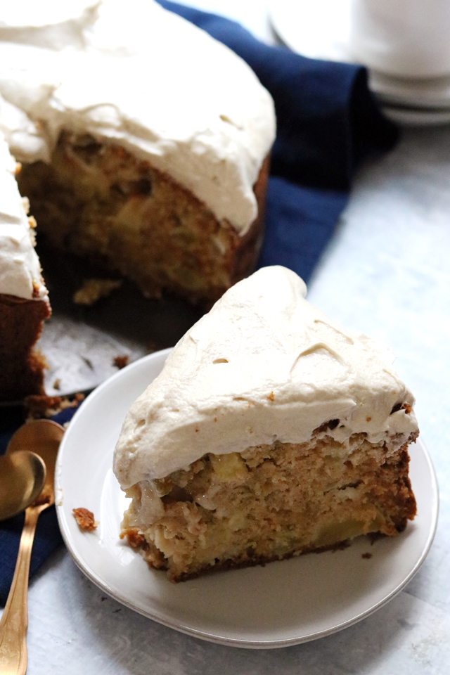 Apple and Olive Oil Cake with Maple Cream Cheese Frosting