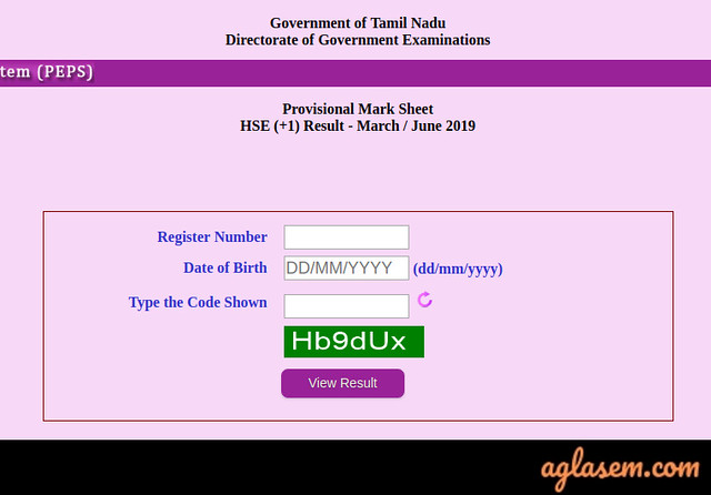 Tamil Nadu 12th Revaluation/ Re-totaling 2019 Result