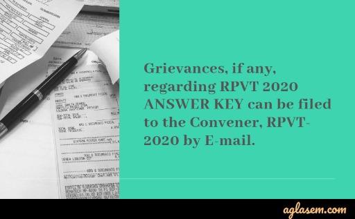 RPVT 2020 Answer Key