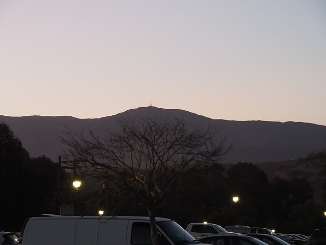S8294990 Bacara parking lot to mountain silhouette