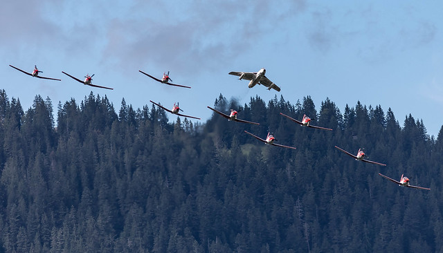 LSTS: LSTS: SwissAirForce (Historical) HawkerHunter T.MK.68 J4015 HB-RVS + SwissAirForce PC-7 Aerobatic Team