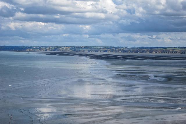 Les bouchots de la baie de Saint-brieuc -marée basse