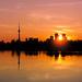 Leslie Street Spit Toronto Canada Sunset