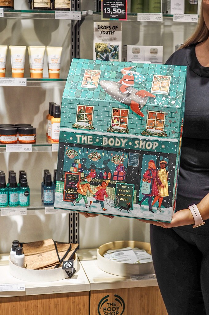 The Body Shop kosmetiikkajoulukalenterit