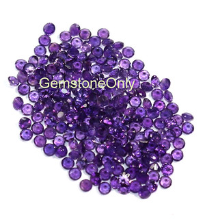 Natural Purple Amethyst faceted step cut round, calibrated amethyst round gemstone top quality 3/ 4/ 5/ 6/ 7/ 8/ 9/ 10mm
