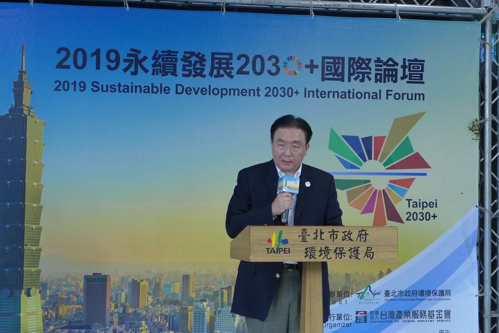 台北市環保局長劉銘龍表示,環境保護不只是環保部門的工作,永續發展目標是整個市政府與市民都要共同參與。孫文臨攝