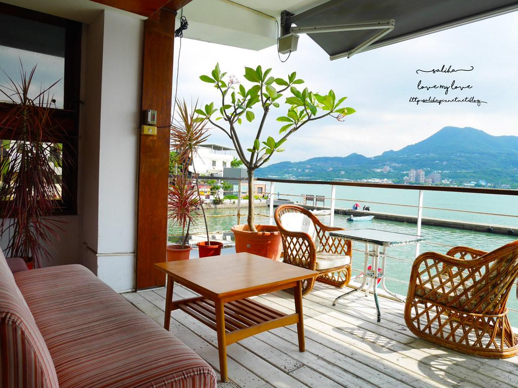 淡水紅毛城附近景觀餐廳下午茶Ancre cafe安克黑咖啡廳 (3)