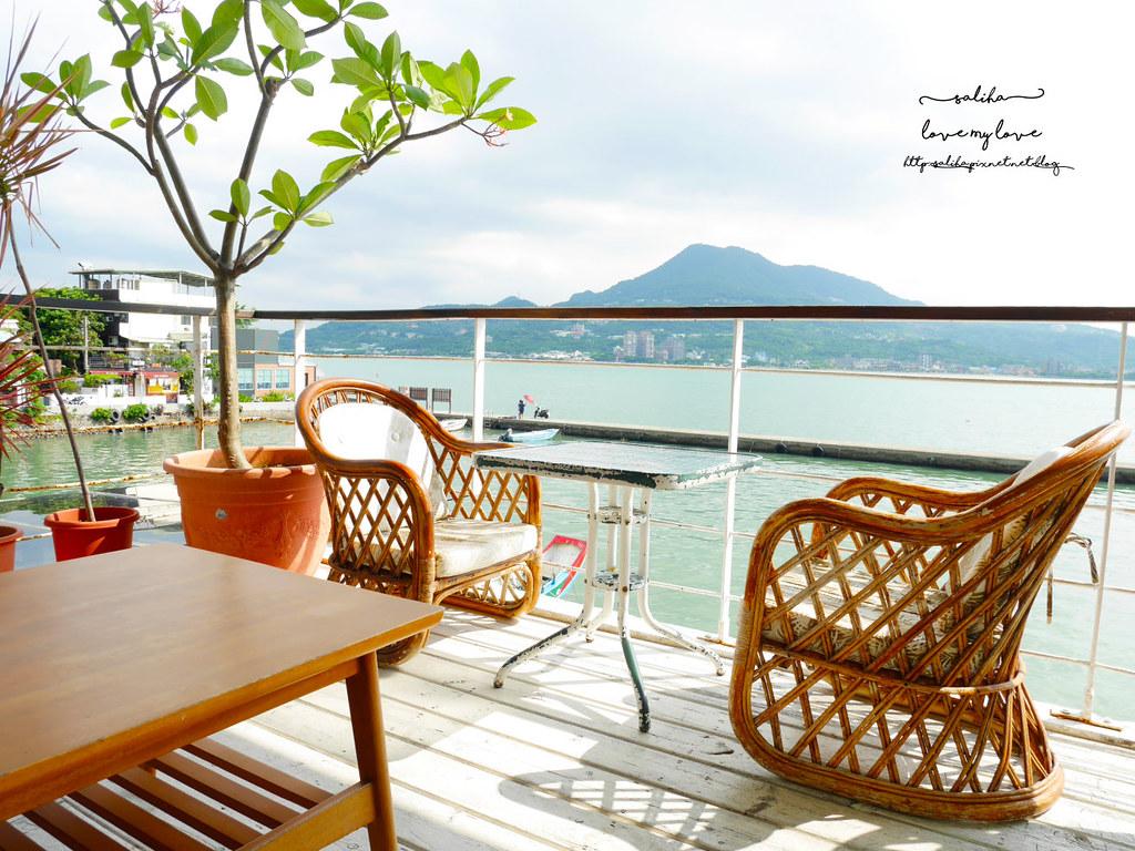 淡水老街附近景觀餐廳Ancre cafe安克黑咖啡館下午茶推薦 (3)