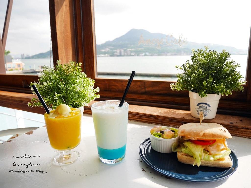 新北淡水一日遊行程推薦Ancre cafe安克黑咖啡館下午茶輕食看書 (1)