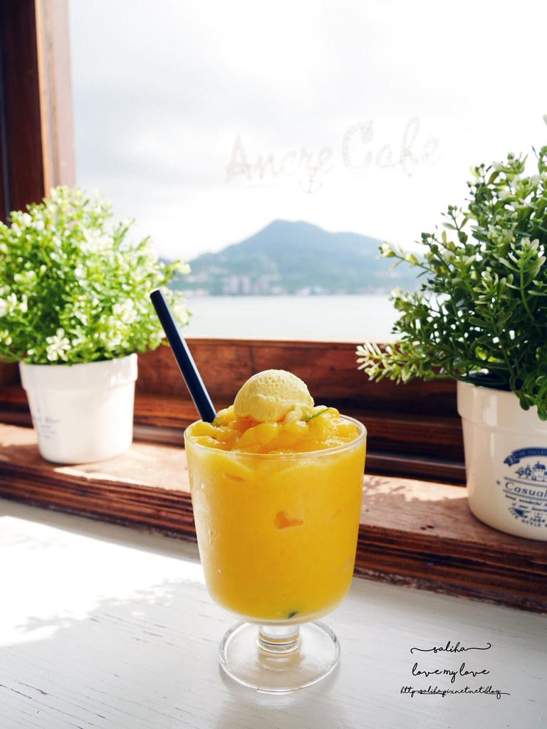 捷運淡水站Ancre cafe安克黑咖啡怎麼去交通下午茶景觀餐廳推薦 (3)