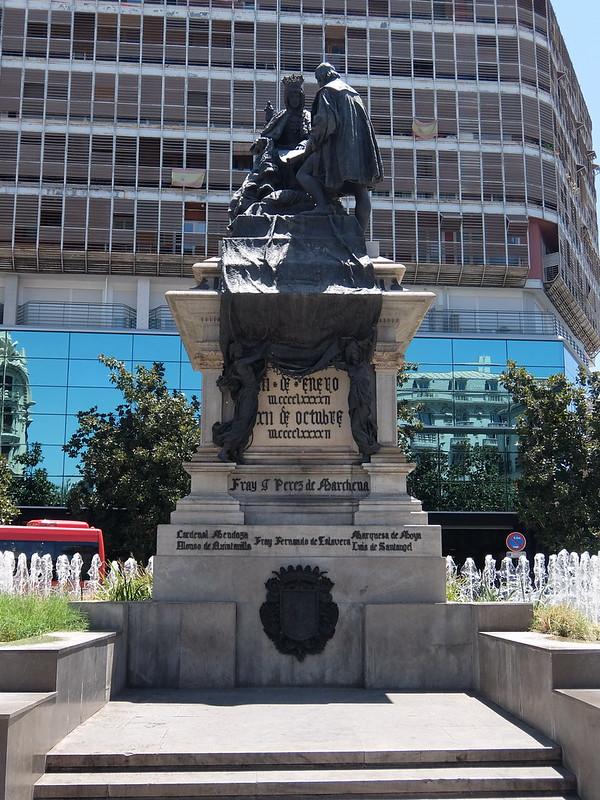 Гранада - Памятник Изабелле Кастильской и Христофору Колумбу