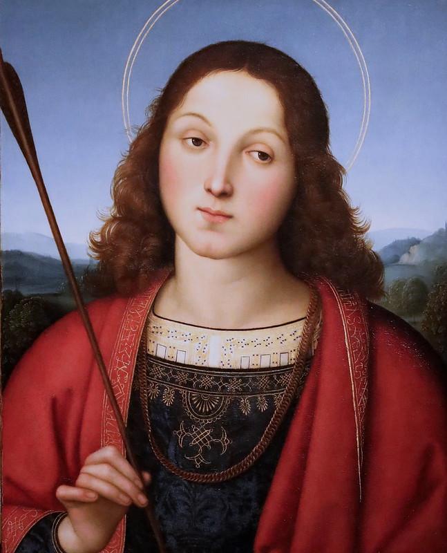IMG_4348 Raffaello Sanzio 1483-1520 Rome Saint Sébastien vers 1502 Bergamo Accademia Carrara