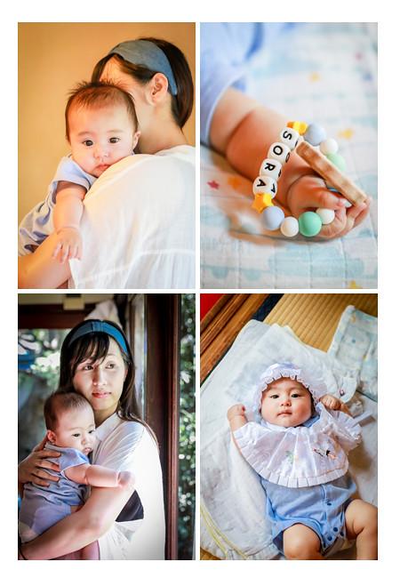 4か月の男の子赤ちゃん ママに抱っこされて