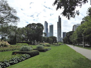 Chicago, Grant Park South, Looking South to South Loop Condo Skyscrapers