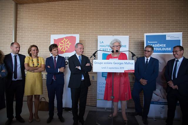 Inauguration de l'école Georges Mailhos, Toulouse, 02 septembre 2019
