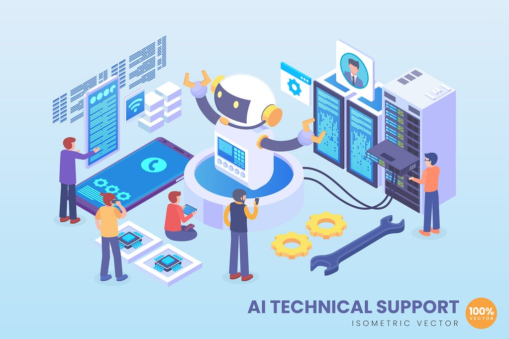 Isometric Artificial Intelligence Tech Support