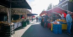 Morning sun on Market