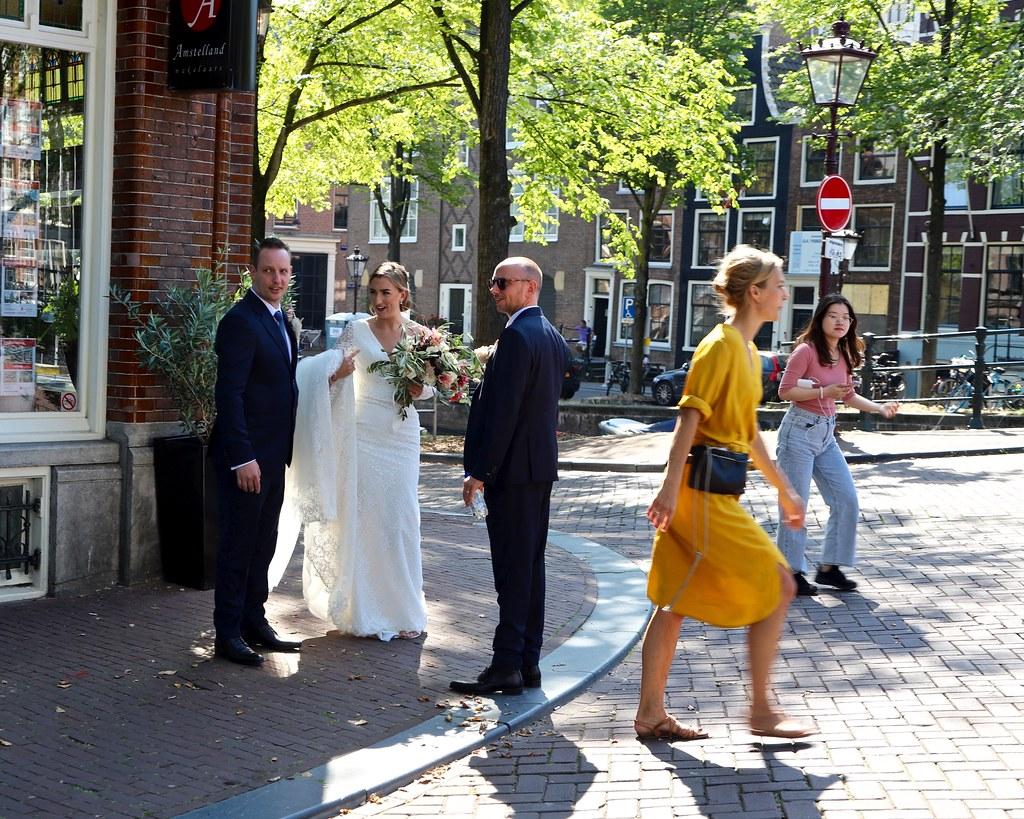 Bruidspaar / Reguliersgracht / Amsterdam