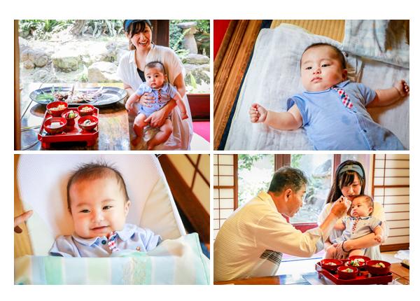 お食い初めの儀式 箸役は赤ちゃんと同性の一番年長者のおじいちゃま