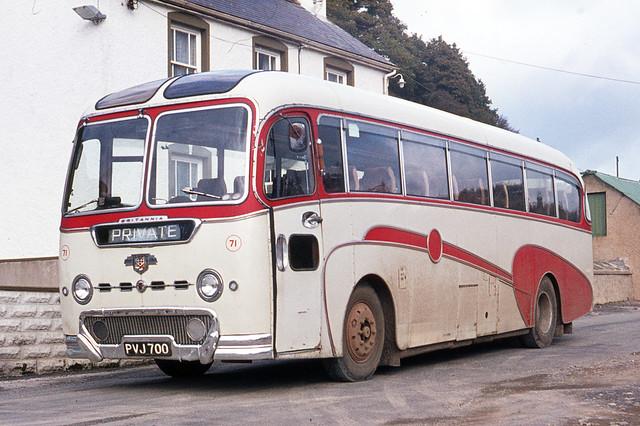 Jones Motors . Login , West Wales . PVJ700 . Login Garage , Login , West Wales . October-1975 .