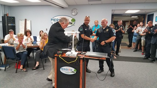 Meridian Township Police Recognized for Life Saving Rescue