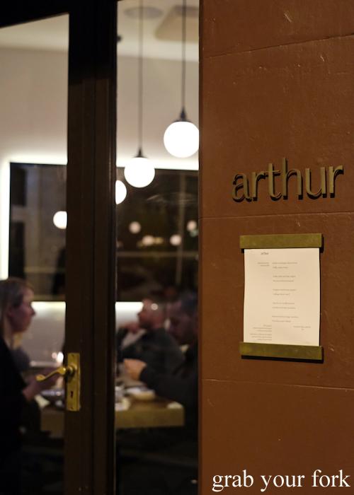 Degustation restaurant Arthur in Surry Hills Sydney