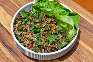 Grilled Mushroom Larb