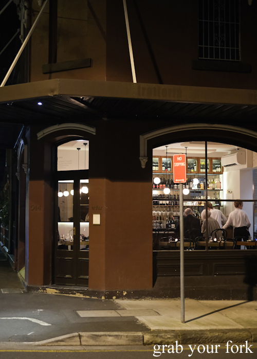 Entrance to Arthur Restaurant in Surry Hills Sydney