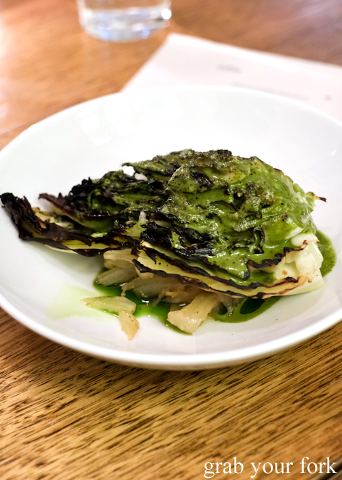 Cabbage, fennel and sorrel at Arthur Restaurant in Surry Hills Sydney
