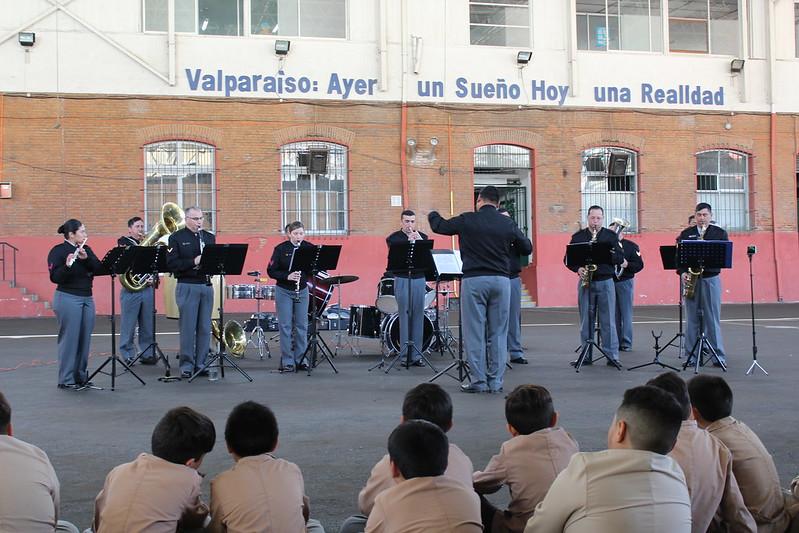 Visita Banda del Regimiento Maipo